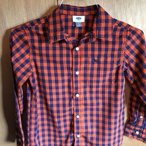 Old Navy Boys Plaid Shirt Size 8